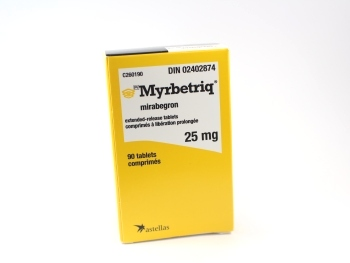 packaging for myrbetriq 25mg