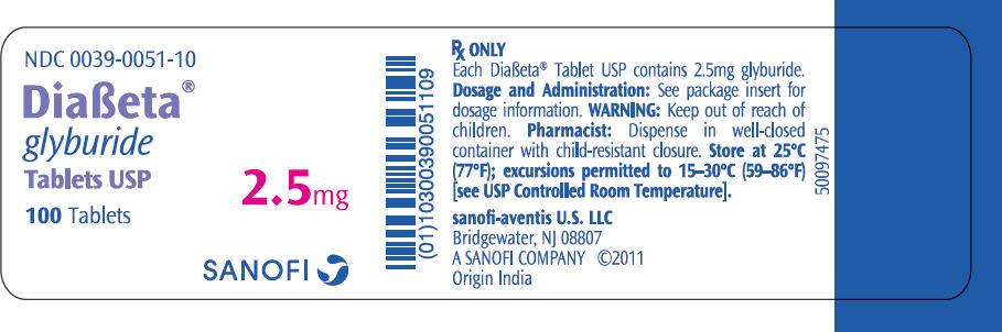 Buy diabeta 2.5mg Online