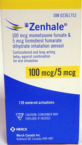 Buy Zenhale (Formoterol Fumarate Dihydrate, Mometasone Furoate) Online